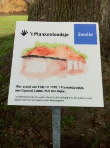 Plankenloodsje bord